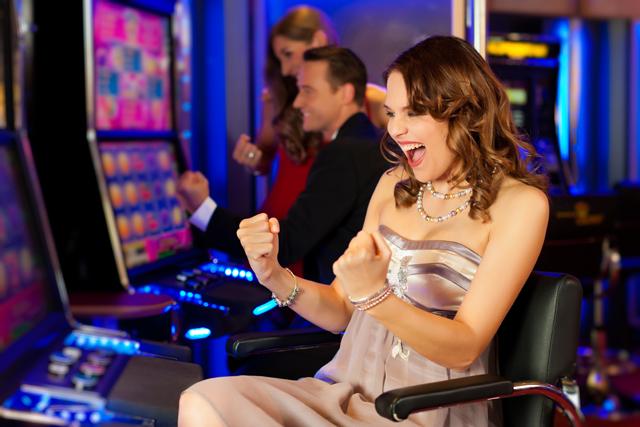 カジノで勝った女性
