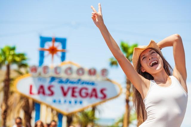 ラスベガスを観光する女性