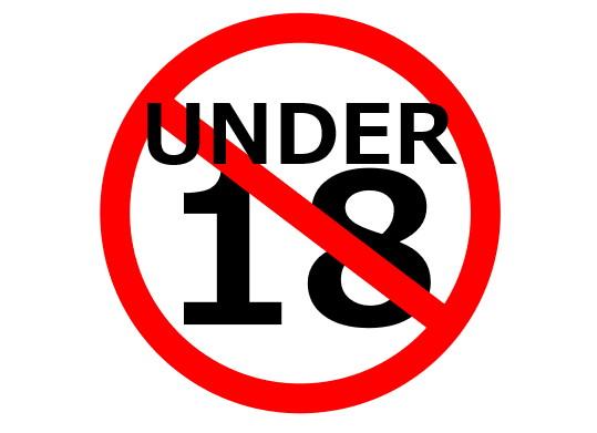 18歳以下禁止