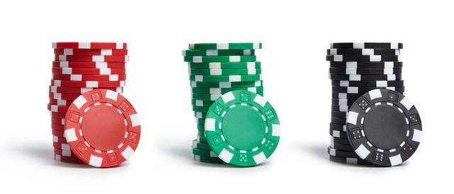 カジノチップ積み