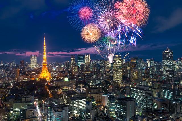 東京タワー花火