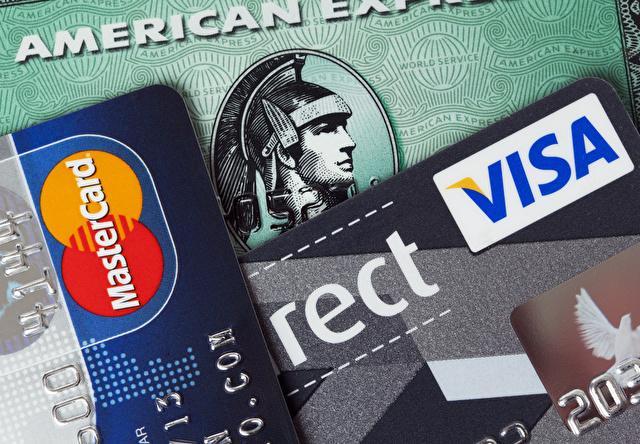American Express, VISA, MasterCard