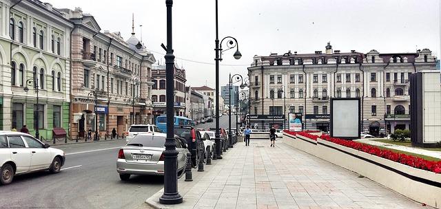 ウラジオストクの街
