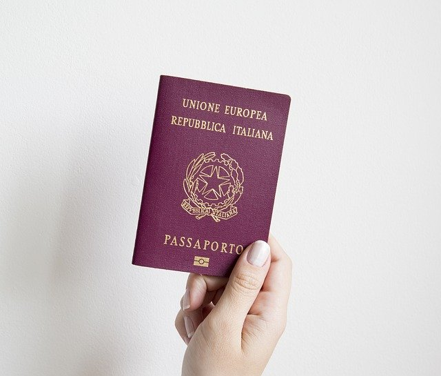 パスポート提示